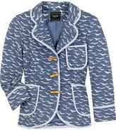 Bird-print quilted jacket