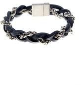 Steve Madden Braided Leather & Chain Bracelet