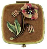 Jay Strongwater Flower Compact Mirror