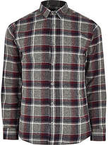 Mens Only and Sons Red check slim fit shirt