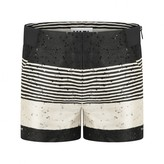 Karl Lagerfeld LagerfeldGirls Black Striped Sequin Shorts
