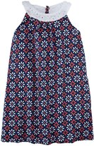 Andy & Evan Floral Dress (Toddler/Kid) - Blue And Pink-3T