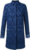 MSGM scalloped cuffs midi coat - women - Cotton/Polyamide/Viscose - 40