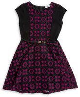 Dex Colorblocked Lace Dress