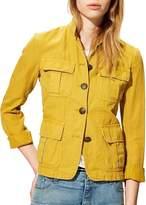 Nili Lotan Cambre Jacket In Mustard