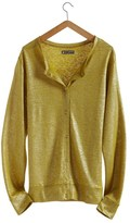 Women's linen and lacquered linen cardigan.