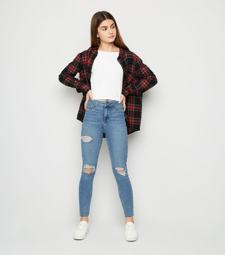 New Look Girls Ripped High Waist Super Skinny Jeans