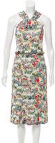 Erdem Floral Print Midi Dress w/ Tags