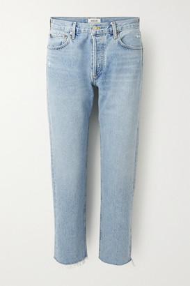 AGOLDE Parker Cropped High-rise Straight-leg Jeans - Light denim