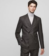 Reiss Chianti B - Double-breasted Blazer in Brown, Mens