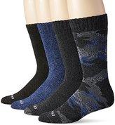 Dickies Men's 4 Pack Camo and Marl All Season Moisture Control Crew Socks
