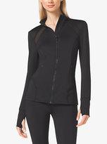 Michael Kors Active Stretch-Jersey Zip Jacket