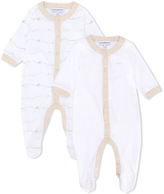 Emporio Armani Kids Button Up Pyjamas Set Of Two