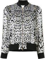 ADAM by Adam Lippes Ocelot velvet bomber jacket