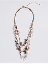 M&S Collection Cluster Row Necklace