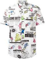 Kenzo Cartoon x Flyer short sleeved shirt - men - Cotton - 41