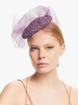 Bundle MacLaren Millinery Sylvie Sequin Pillbox Veil Fascinator, Purple