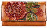 Patricia Nash Painted Rose Collection Floral Terresa Wallet