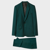 Paul Smith A Suit To Travel In - Men's Tailored-Fit Dark Green Wool Suit