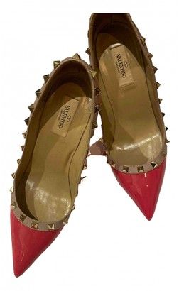 Valentino Rockstud Spike Pink Leather Heels