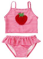 Crazy 8 Strawberry Stripe Two-Piece Swimsuit