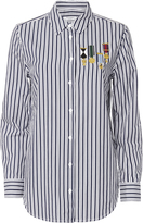 Equipment Medal Embroidered Striped Shirt