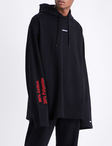 Vetements French terry cotton-blend hoody