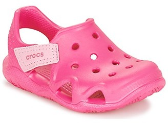 Crocs SWIFTWATER WAVE KIDS girls's Clogs (Shoes) in Pink