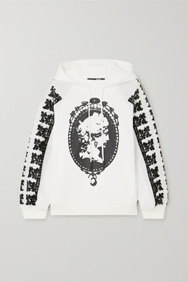 McQ Jibusho Embroidered Printed Cotton-jersey Hoodie