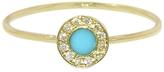Jennifer Meyer Diamond Turquoise Inlay Circle Ring - Yellow Gold