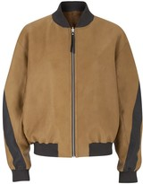 Amanda Wakeley Venla Tan Bomber Jacket
