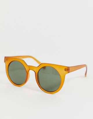 Aj Morgan AJ Morgan round sunglasses in matte brown