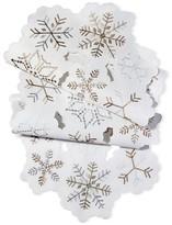 Threshold White Snowflake Cutwork Table Runner