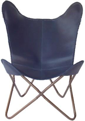 Nubuck Butterfly Chair Navy