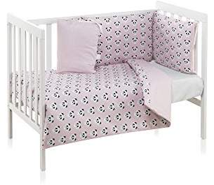 Camilla And Marc Funny Baby Pandy Duvet Cover 110 x 150 cm Cot 60 x 120 cm Pink