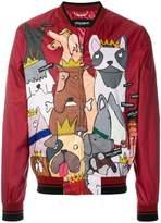 Dolce & Gabbana dog print bomber jacket