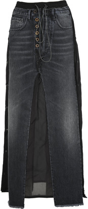 Ben Taverniti Unravel Project Unravel Unravel Project Long Layered Denim Skirt