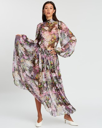 Romance Was Born Montmartre Flower Tie Dress