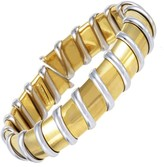 Roberto Coin Nabucco 18K White and Yellow Gold Bangle Bracelet