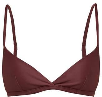 Matteau - The Tri Crop Triangle Bikini Top - Womens - Burgundy