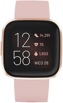 Fitbit Versa 2 Health and Fitness Silicone-Strap Smart Watch