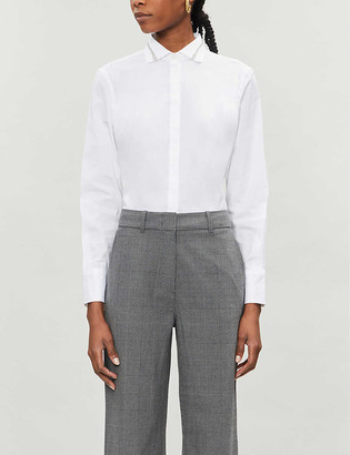 Brunello Cucinelli Bead-embellished stretch-cotton shirt