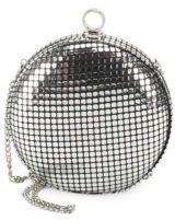 Halston Metallic Round Convertible Clutch