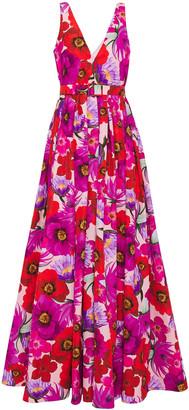 Borgo de Nor Isabella Floral-print Cotton-blend Faille Maxi Dress