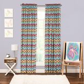 Crayola Mixed Palette Chevron 84-Inch Window Curtain Panel
