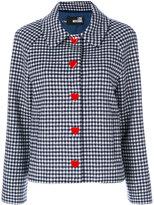 Love Moschino check heart button jacket - women - Polyamide/Viscose/Wool/other fibers - 38