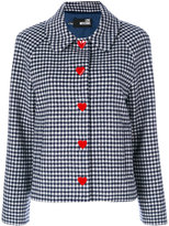 Love Moschino check heart button jacket