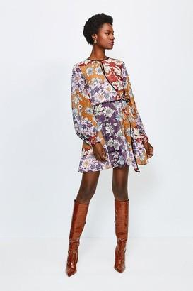 Karen Millen Keyhole Wild Flower Dress