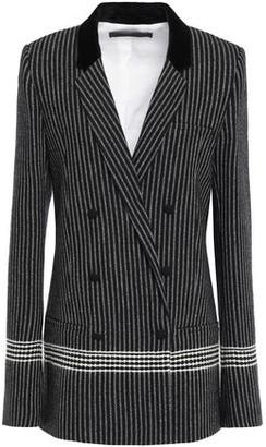 Haider Ackermann Ryder Double-breasted Striped Wool-blend Blazer