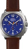 Shinola 46mm Brakeman Chronograph Watch with Leather Strap, Brown